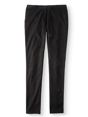 Wonder Nation Juniors' Plus School Uniform Stretch Twill Skinny Pants