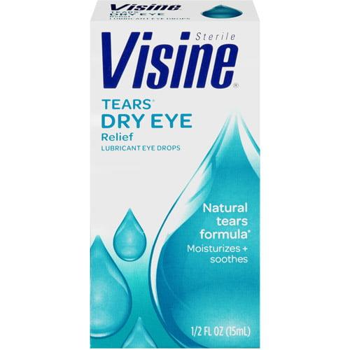 Visine Tears Lubricant Eye Drops Dry Eye Relief, 0.5 fl oz