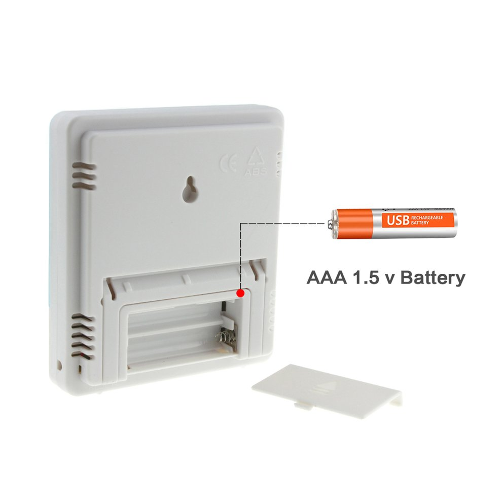 Htc 1 Digital Temperature Humidity Meter Alarm Clock Thermometer Hygrometer