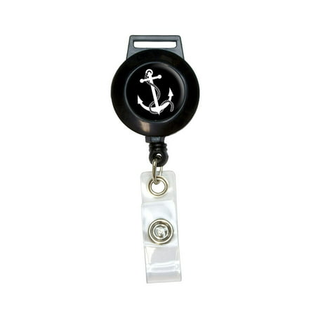 Id Anchor - Anchor and Rope - Boat Boating Retractable Badge Card ID Holder