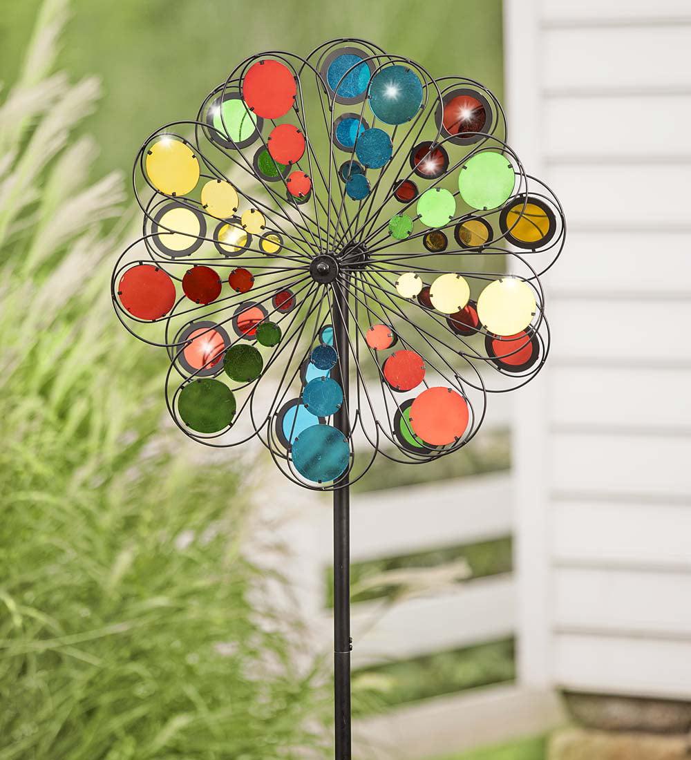 Multicolor Mirror Garden Wind Spinner by Plow & Hearth