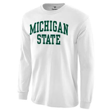Michigan State Spartans Apparel (Michigan State Spartans Basic Arch Long Sleeve T-Shirt - White )