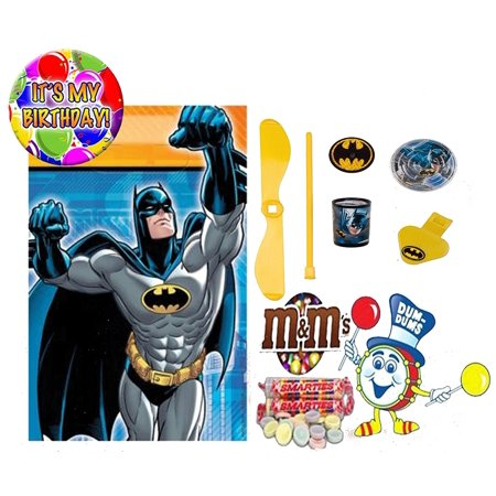 Marvel Batman (8) Pre-Filled Toy & Candy Party Favor Goodie Bags! Plus Bonus