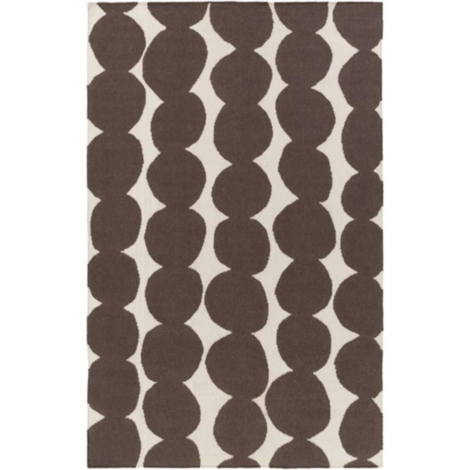 3.25' x 5.25' Pebble Stone Taupe Brown and Dove Gray Hand...