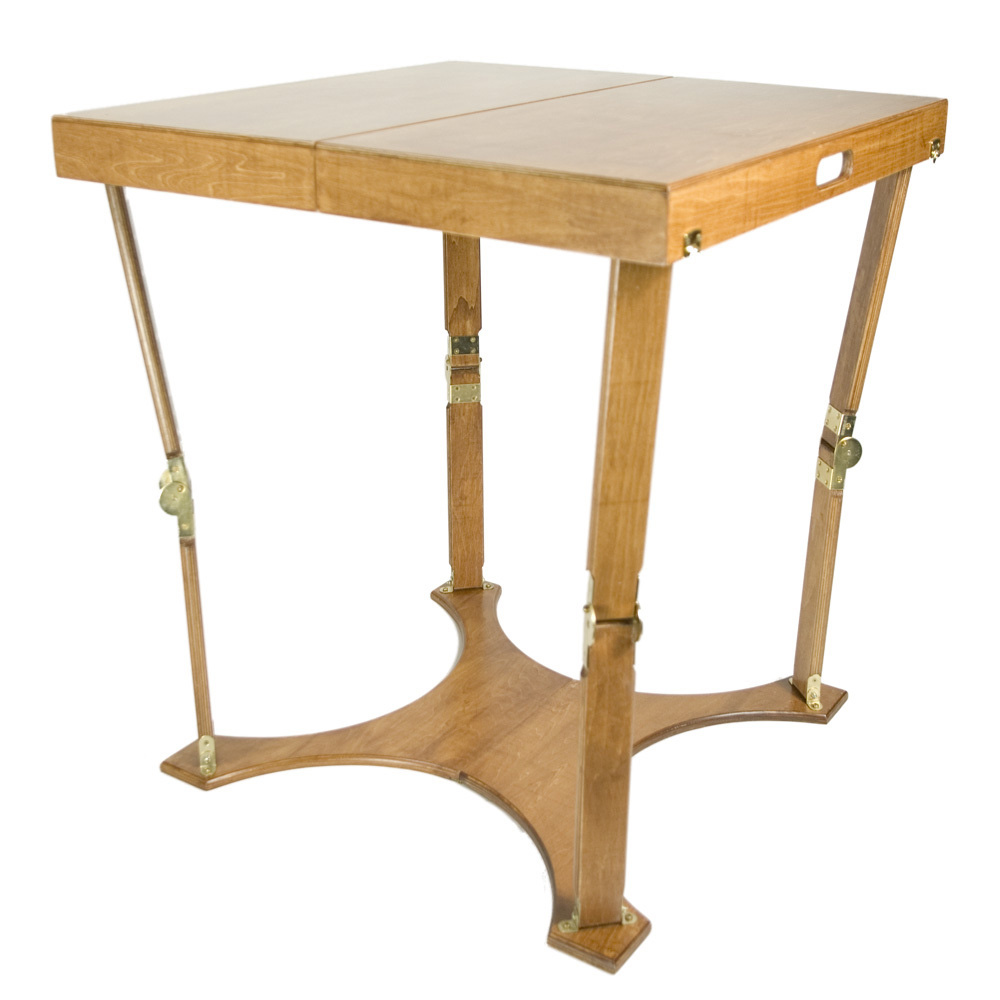 Spiderlegs C3030-WO Hand Crafted Portable Wooden Folding Cafi Table w/ Warm Oak Finish