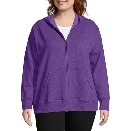 - Just My Size Women's Plus Size Fleece Zip Hood Jacket