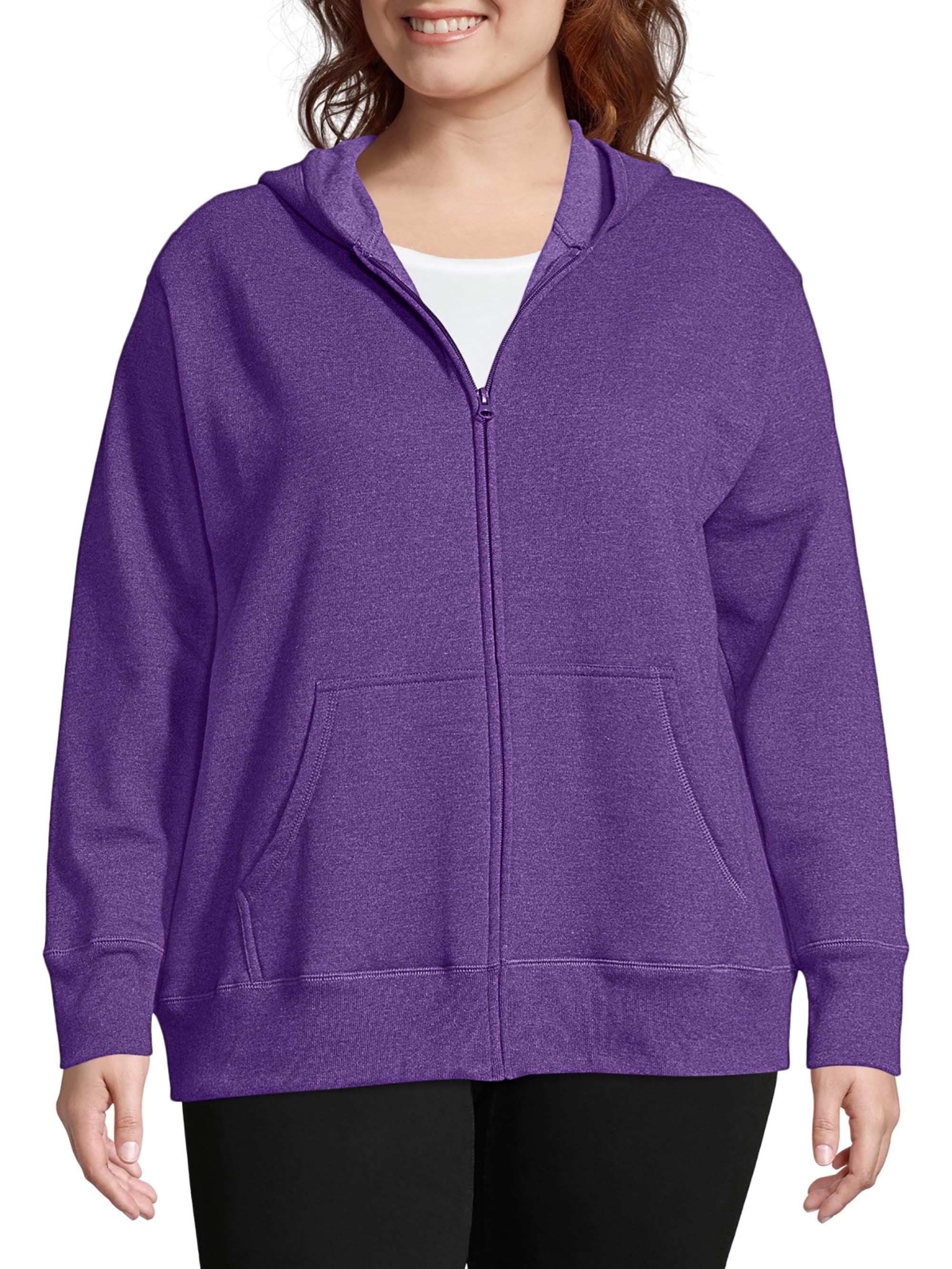 Just My Size Women's Plus-Size Fleece Zip Hood Jacket