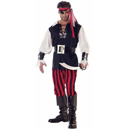 Cutthroat Pirate Men's Adult Halloween Costume - Treasure Island Pirate Costume