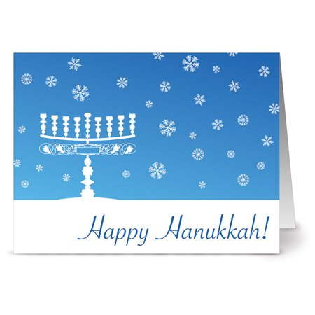 - 24 Holiday Note Cards - Happy Hanukkah - Blank Cards - White Envelopes Included