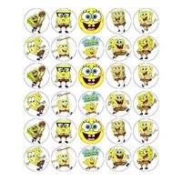 SpongeBob SquarePants Edible Frosting Cupcake Toppers