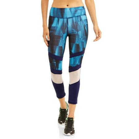 10991fd015cce Active - Women's Abstract Print Power Mesh Performance Capri Legging -  Walmart.com