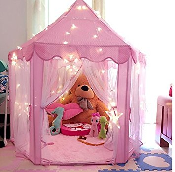 Pink Princess Castle Kids Play Tent Children Playhouse Great Birthday Gifts for 1-10 : toddler playhouse tent - memphite.com