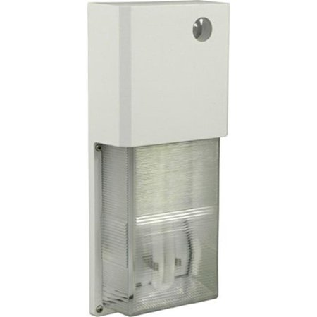 Dabmar Lighting W2001-W 12.19 x 5.20 x 2.42 in. 120 V 13 watts Polycarbonate Surface Mounted Wall Fixture Light with PL13 Fluorescent Lamp, White