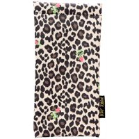 Betsey Johnson Womens Leopard & Floral Print Eyewear Case One Size Beige/brown/black