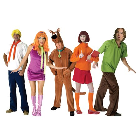 Adult Scooby Doo Group Costume - Famous Groups Of Three Costumes