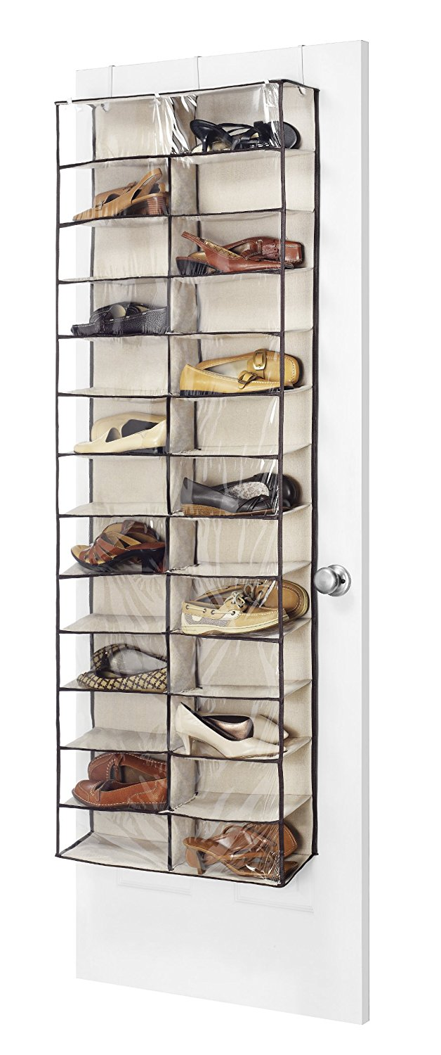 Fashion Canvas Over The Door Shoe Shelves, 20Pocket 26Section Waterproof Shoes Hangers Accessory Sections Creative... by