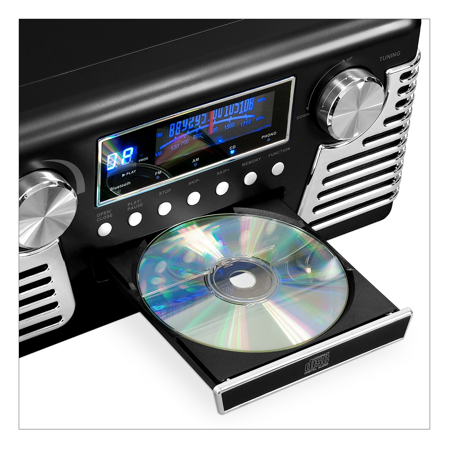 Victrola 50/'s Retro Record Player Stereo Bluetooth USB Encoding CD V50-200-BLU