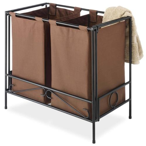 Whitmor 6205-3909-JAVA-BB Folding Java Double Hamper