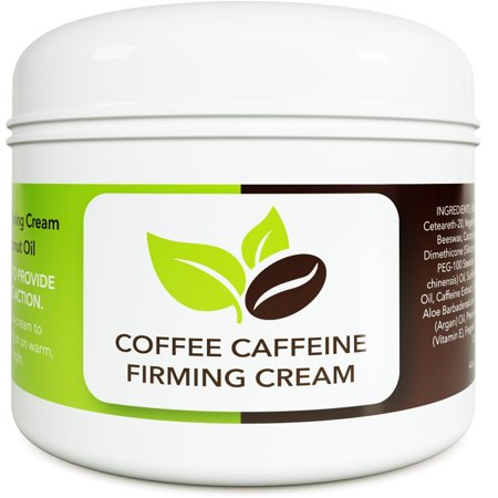 Coconut Cellulite Cream with Caffeine - Natural Stretch Mark Treatment - Best Body Firming and Tightening Cream - Anti Aging Moisturizer for Men and Women - UV Damage Wrinkle