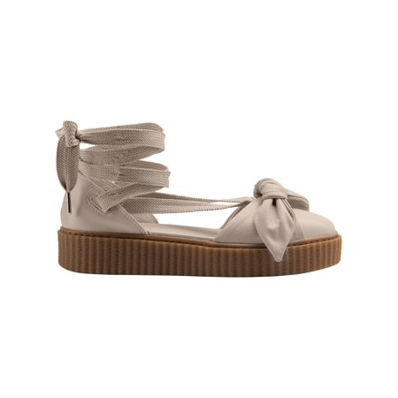 reputable site c79b7 10107 PUMA Fenty Bow Creeper Sandal - Women's - Casual - Shoes - Pink Tint/Pink  Tint/Oatmeal - Walmart.com