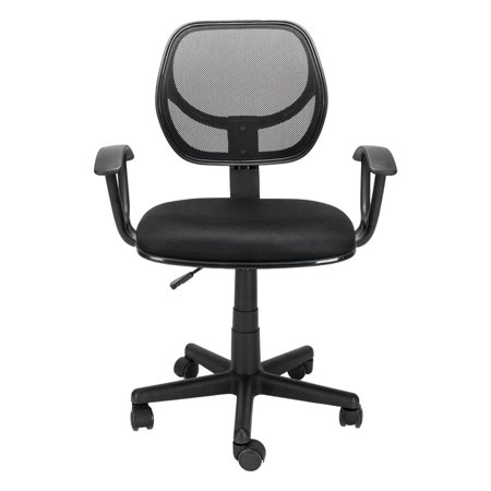 Home Office Room Use Nylon Five-star Feet Mesh Chair Black ()