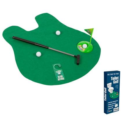 Toilet Golf Joke & Novelty Set - Play Golf on the Toilet By EZ Drinker (Toilet Toy)