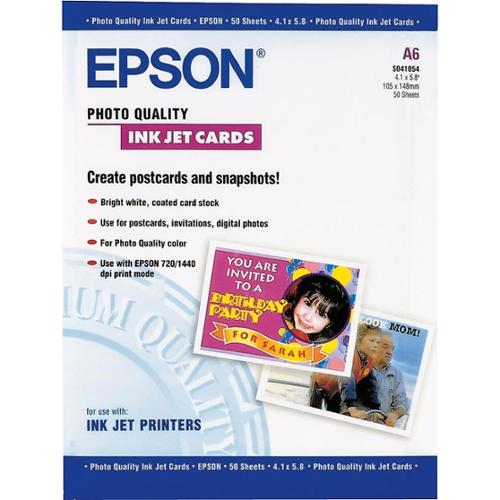 Epson S041054M PHOTO QUALITY INKJET CARDS, A6 SIZE