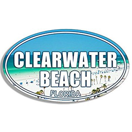 Party City In Clearwater Fl (OVAL Clearwater Beach Sticker Decal (florida fl logo) 3 x 5)