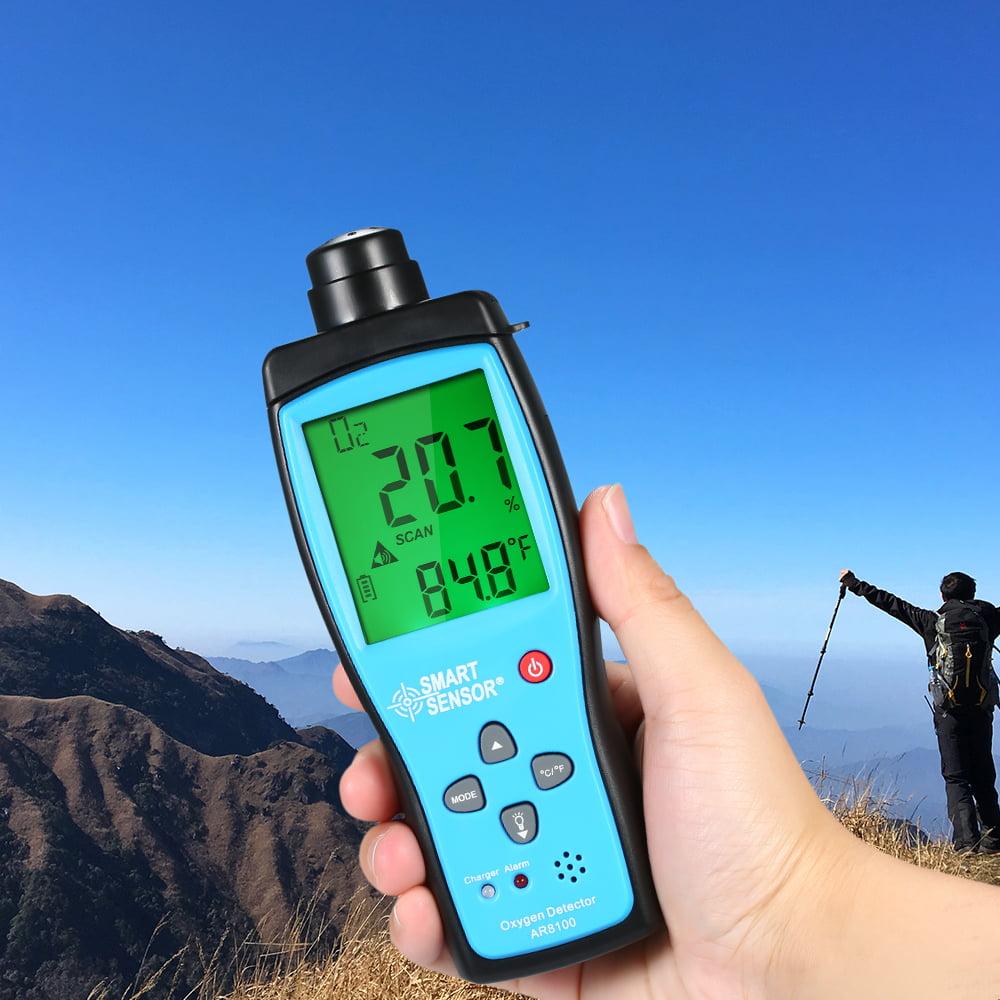 SMART SENSOR Sauerstoffmessgerät Digitaler Kfz-O2-Gas Tester Monitor Detekt V7N8