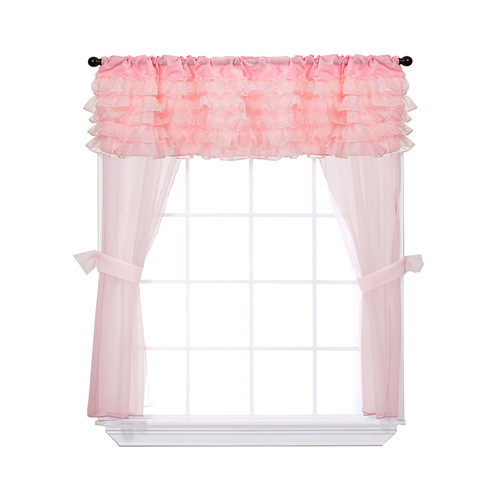 Baby Doll Bedding 5 Piece Window Solid Sheer Rod pocket Curtain Panels