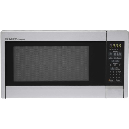 Sharp R451ZS Carousel Countertop Microwave Oven 1.3 cu. ft. 1000W Stainless Steel