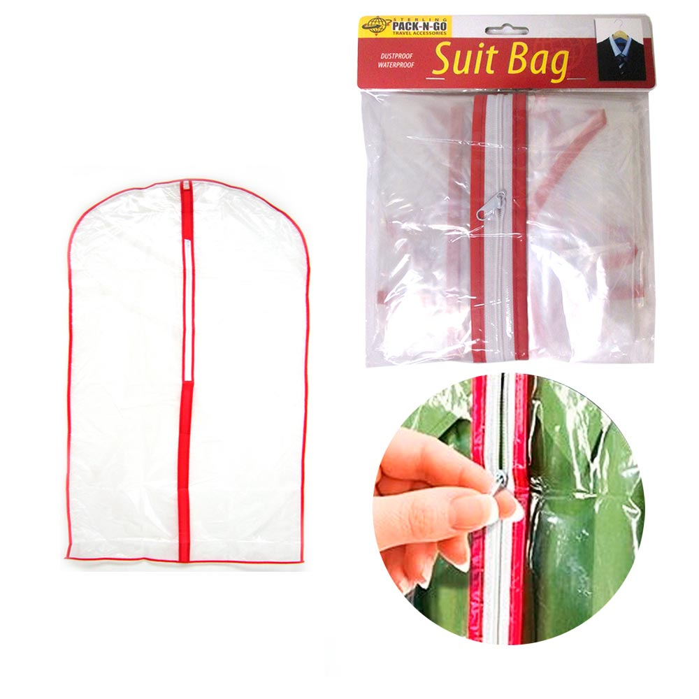 12pc Clear Foldable Garment Bag Suit Dress Jacket Cover Zipper Storage Travel !
