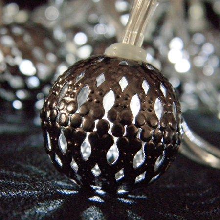 Metal Globe String Lights : Globe String Lights String Lights Moroccan Metal Globes 10 ft Cool White LEDs Plug in - Walmart.com