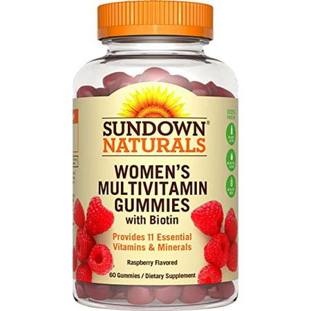 Sundown Naturals Les femmes multivitamine avec Biotine, 60 gélifiés Chaque