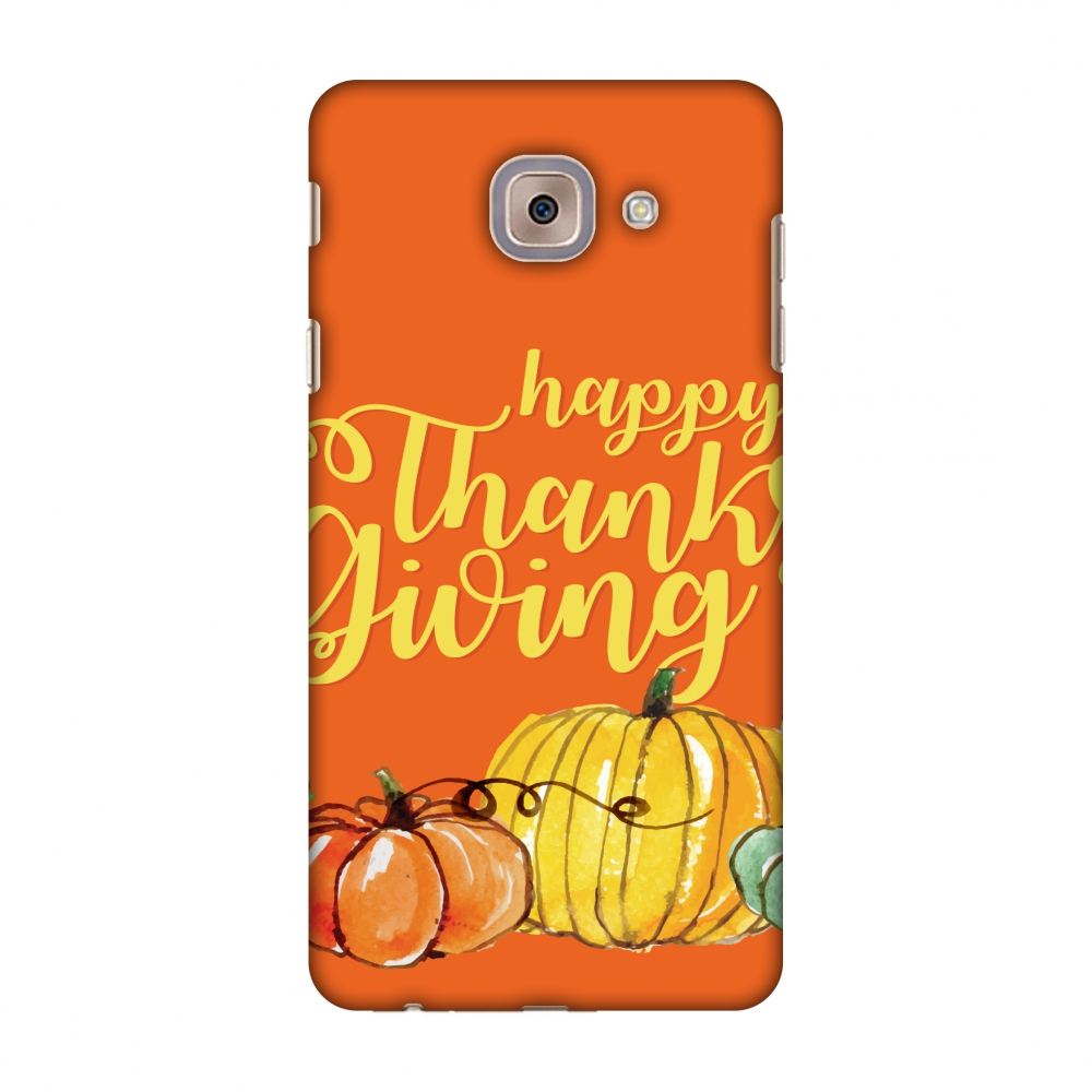Samsung Galaxy J7 Max Case, Premium Handcrafted Designer Hard Shell Snap On Case Shockproof Printed Back Cover with Screen Cleaning Kit for Samsung Galaxy J7 Max, Slim, Protective - Pumpkin Pattern