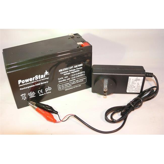 PowerStar PS12-7-F120010W2 Fish Finder Backup Battery and Charger Combo 12V