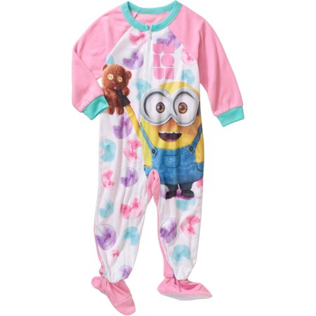 53d6c83fcde4 Minions - Despicable Me Toddler Girl Footed Pajamas - Walmart.com