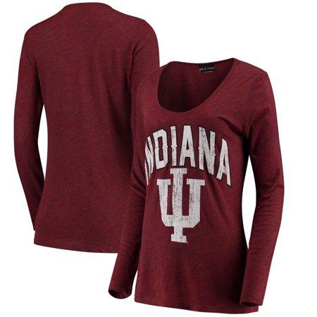 208a1eec Indiana Hoosiers 5th & Ocean by New Era Women's Scoop Neck Long Sleeve  Tri-Blend T-Shirt - Heathered Crimson - Walmart.com