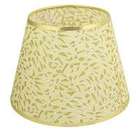 Unique Bargains 18cmx28cmx21cm Cloth Lamp Cover Shade Lampshade Gold Tone