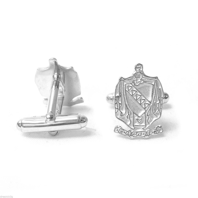 Tau Kappa Epsilon TKE Solid Sterling Silver Cufflinks