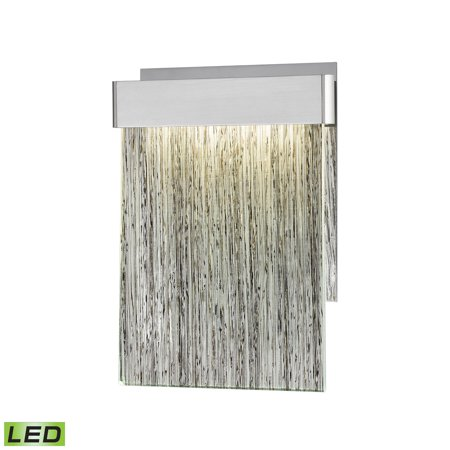 Meadowland 1-Light Sconce in Satin Aluminum, Polished Chrome