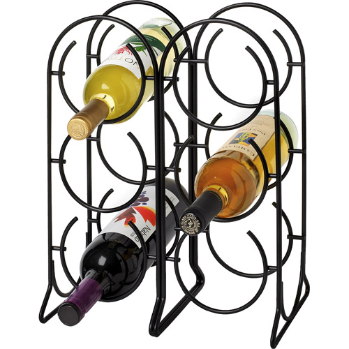 Spectrum Horseshoe 6-Bottle Wine Rack, Black by Spectrum Diversified Designs