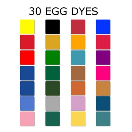 Pysanky Easter Eggs (Set of 30 Dyes for Ukrainian Pysanky Easter Eggs)