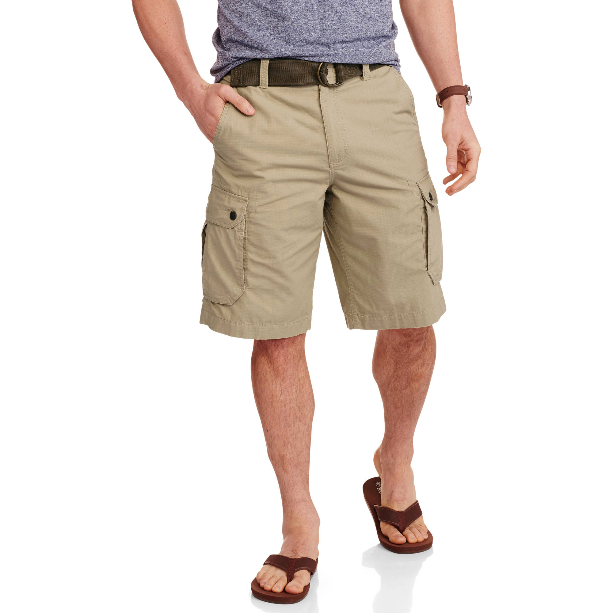 Faded Glory Big Men's Ripstop Cargo Short - Walmart.com