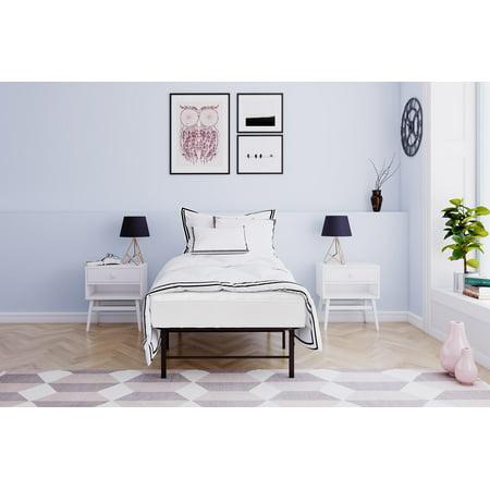Mainstays 6 Inch Coil Mattress & Metal Platform Bed, Multiple Sizes