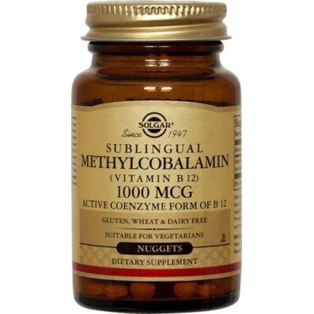 Méthylcobalamine (vitamine B12) 1000 mcg Solgar 60 Nugget