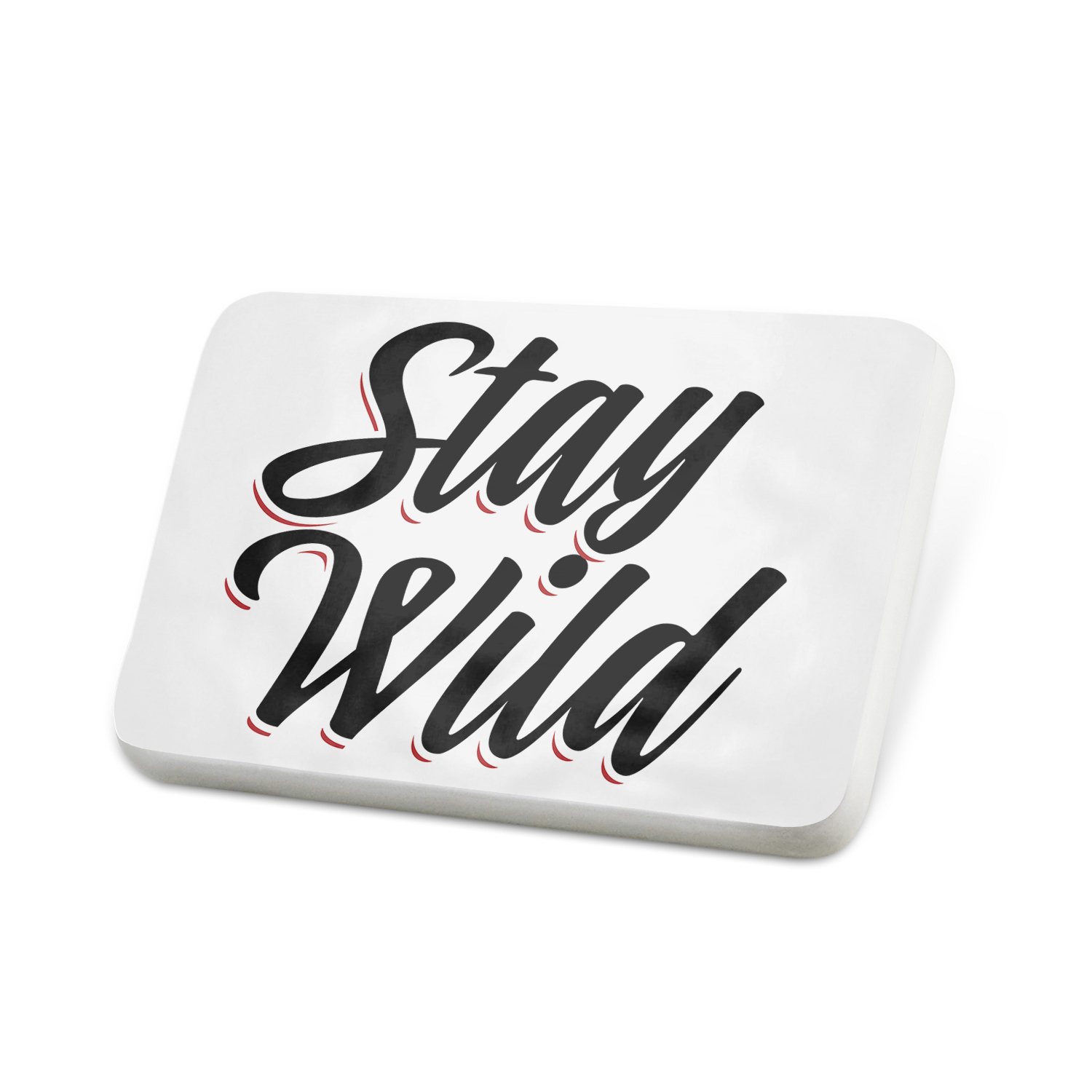 Porcelein Pin Vintage Lettering Stay Wild Lapel Badge – NEONBLOND