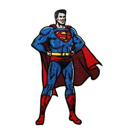 Tall Classic Applique - Classic Superman DC Comics Superhero Justice League Leader Iron-On Applique Patch