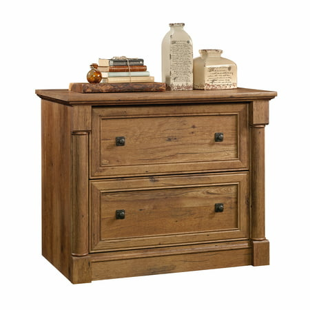 Sauder Palladia 2-Drawer Lateral File, Vintage Oak Finish Files Lateral Wood Laminate