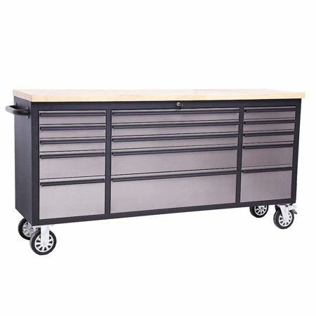 Astounding Thorkitchen 72 15 Drawer Anti Fingerprint Stainless Steel Tool Chest Work Bench Htc7215Bs Gmtry Best Dining Table And Chair Ideas Images Gmtryco